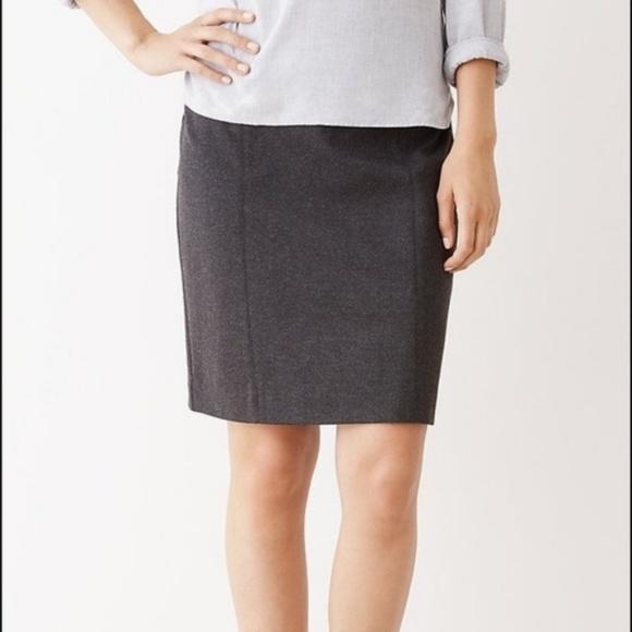 0aea52f75c J. Jill Skirts | J Jill Ponte Charcoal Pencil Skirt Stretch Career ...